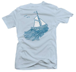 TUS Men's Baby Blue American Apparel Shirt (What Lasts):