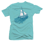 TUS Women's Aqua American Apparel Shirt (What Lasts)